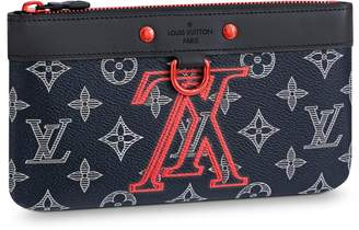 Louis Vuitton PM Pochette Apollo Monogram Upside Down Ink Navy