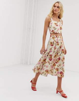 And other stories &  a-line linen blend floral skirt co-ord