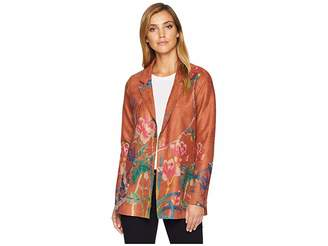 FDJ French Dressing Jeans Faux Suede Printed Jacket Women's Coat