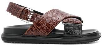Marni Fussbett crossover strap sandals