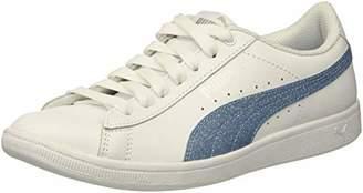 9b69d1a5ec20 Puma Unisex Vikky Glitz FS Jr Sneaker White-Cerulean Silver