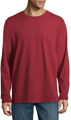 STAFFORD Stafford Long Sleeve Crew Neck Pocket T-Shirt