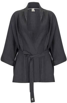 Dor Raw Luxury - The Elephant House Of Magic Linen Kimono Anthracite