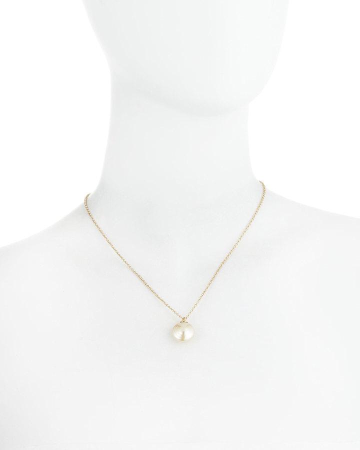 Majorica Coin Pearl Pendant Necklace