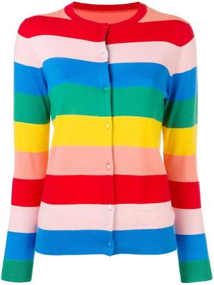 Parker Chinti & striped knitted cardigan