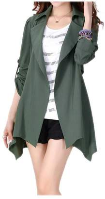 ARJOSA Women's Irregular Hem Open Front Blazers Jackets Coats Outerwears Tops