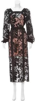Alice McCall Crochet Evening Dress