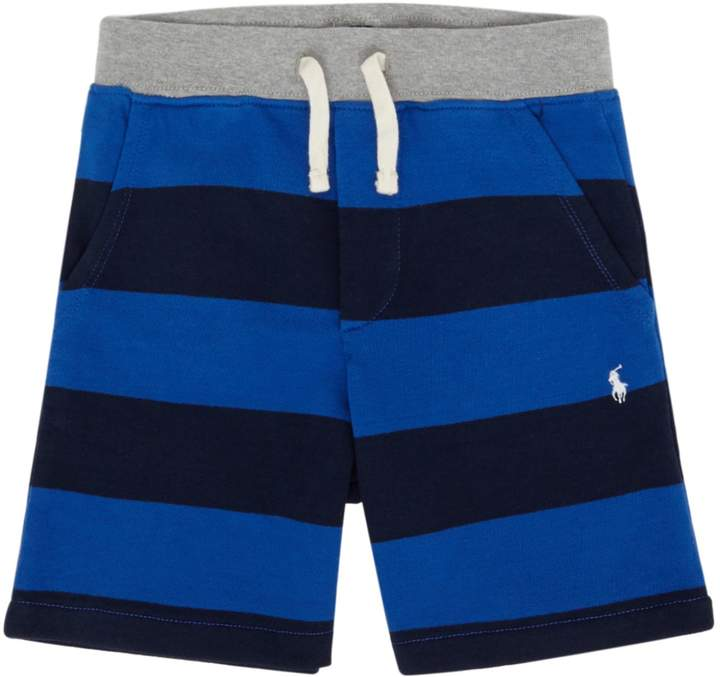 Boys Small Pony Stripe Jersey Shorts