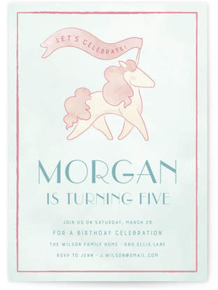 Unicorn Parade Custom Selflaunch Stationery