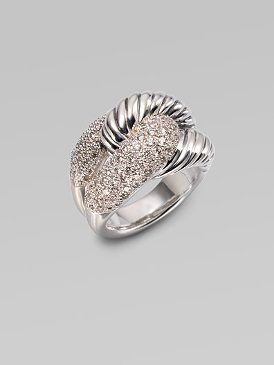 David Yurman Diamond & Sterling Silver Knot Ring