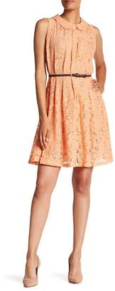 Amelia Belted Lace Dress