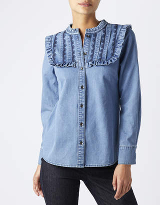 Monsoon Jess Embroidered Denim Shirt