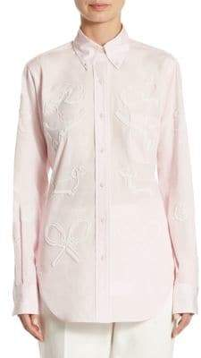 Thom Browne Oversized Bead Embroidery Shirt
