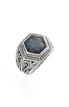 Konstantino Santorini Hematite Hexagon Ring