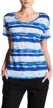 Tommy Bahama Watercolor Waves Linen Tee $68 thestylecure.com