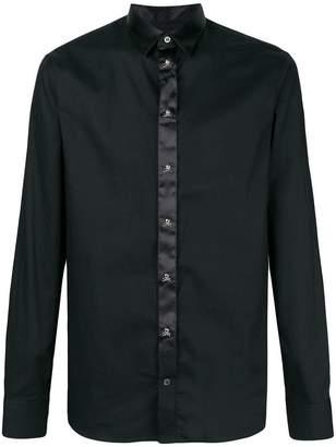 Philipp Plein satin trim shirt