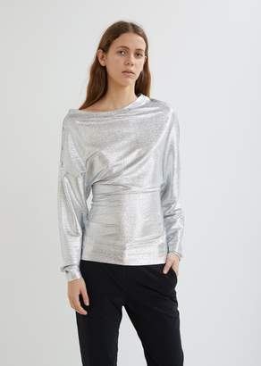 Paco Rabanne Metallic Long Sleeve Top