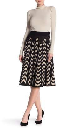 Lauren Hansen Half Moon Knit Flared Skirt