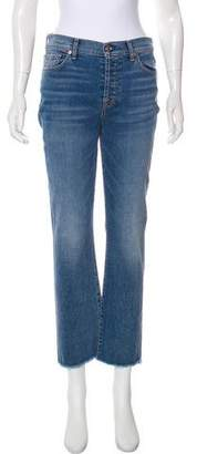 7 For All Mankind Edie Mid-Rise Straight-Leg Jeans w/ Tags