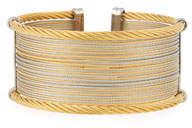 Alor Classique Wide Steel & 18k Cuff Bracelet