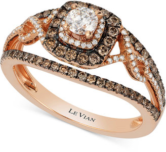 Le Vian Bridal® Diamond Engagement Ring (7/8 ct. t.w.) in 14k Rose Gold $5,801 thestylecure.com