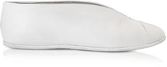 White Leather Flat Shoe