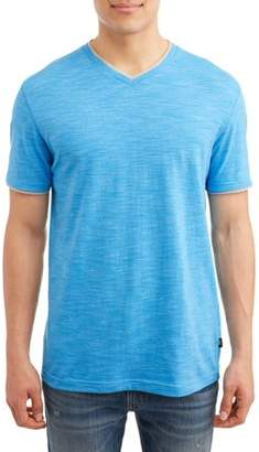 Lee Men's Short Sleeve Textured Jersey V-Neck Tee, Available up to size 2XL