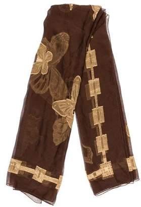 Chopard Butterfly Print Silk Scarf