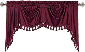 Co UNITED CURTAIN United Curtain Austrian Dupioni Silk Back-Tab Valance