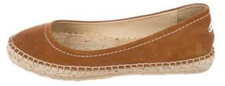 Jimmy Choo Suede Espadrille Flats Brown Suede Espadrille Flats