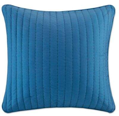 INK+IVY Camila Quilted European Pillow Sham in Navy