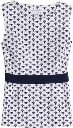 Diane von Furstenberg Stretch Cotton Printed Sleeveless Top