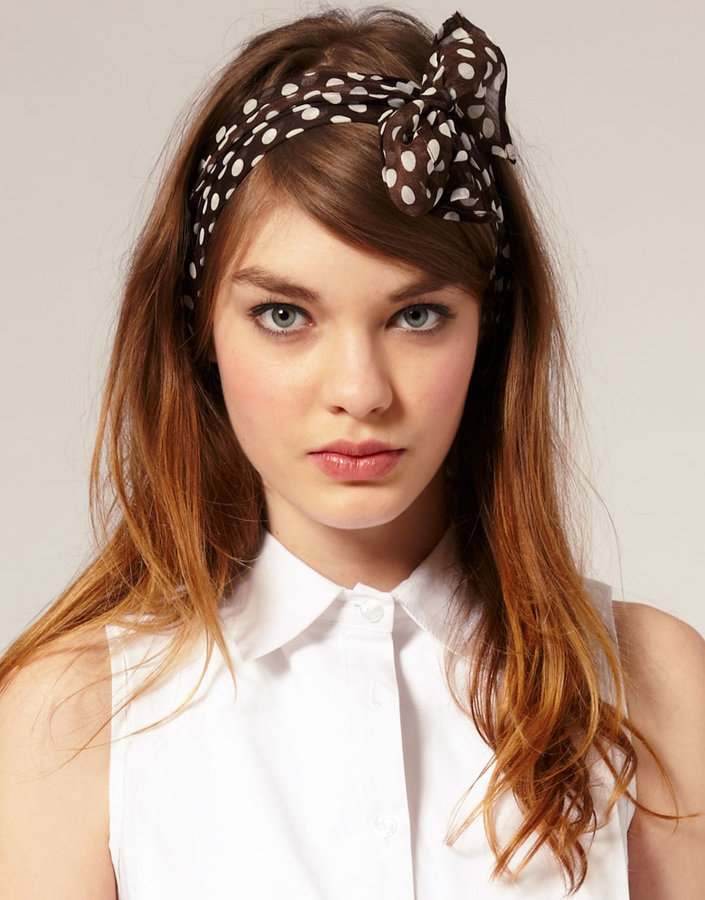 ASOS Polka Dot Head Scarf