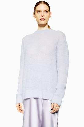 Topshop Womens **Keyhole Knitted Jumper By Boutique - Lavender