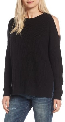 Women's Bp. Cold Shoulder Tunic Sweater $55 thestylecure.com
