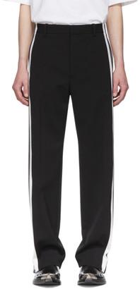 Balenciaga Black and White Stretch Trousers