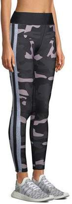 Ultracor Ultra-High Camo Collegiate Leggings with Side Stripes