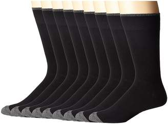 Ecco Socks Solid Color with Tipping Socks - 9 pack Men's Crew Cut Socks Shoes