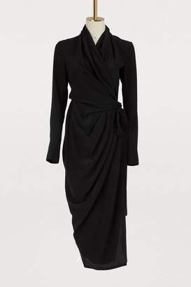 Rick Owens Silk wrap dress