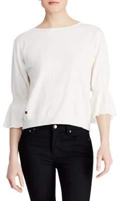 Lauren Ralph Lauren Ruffled-Cuff Boatneck Sweater