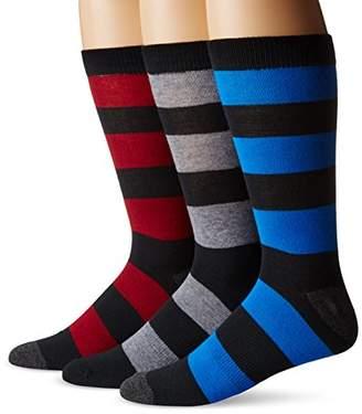 K. Bell K.Bell Label Men's Big & Tall Rugby-Stripe Crew Sock 3-Pack