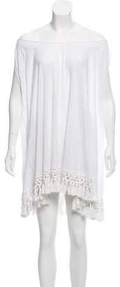 Calypso Linen Sleeveless Tassel Mini Dress