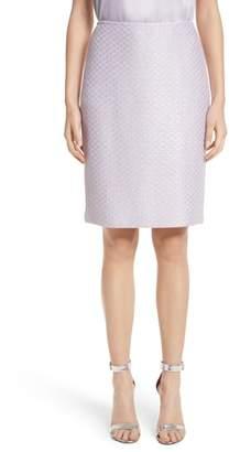 St. John Hansh Sequin Knit Pencil Skirt