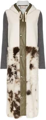 Plan C shearling two-tone coat