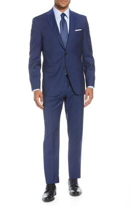 BOSS Johnstons/Lenon Classic Fit Stripe Wool Suit