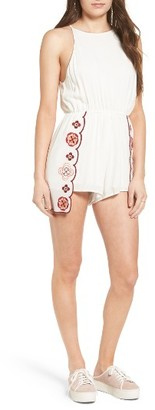 Women's Somedays Lovin Lost In Love Embroidered Romper $109 thestylecure.com