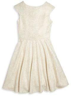 Un Deux Trois Girl's Cap Sleeve Dress $84 thestylecure.com