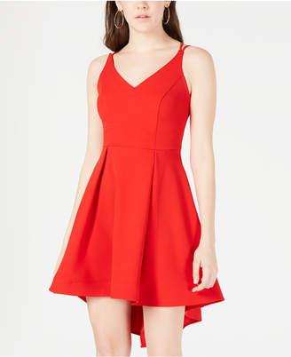 B. Darlin Juniors' High-Low Fit & Flare Dress