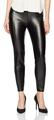Kensie Women's Stretch Faux Leather Pant