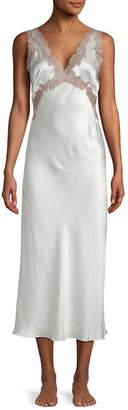 Josie Natori Lolita Lace Applique Gown